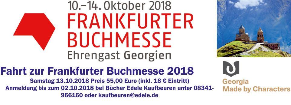 Mit Dannheimer/Bücher Edele zur Frankfurter Buchmesse 2018